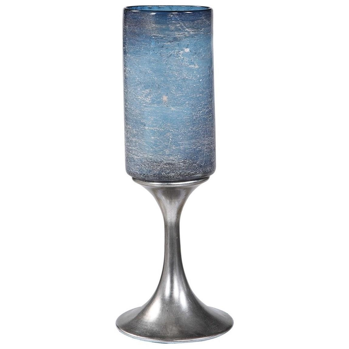 Accessories - Candle Holders Gallah Blown Glass Candleholder by Uttermost at Mueller Furniture
