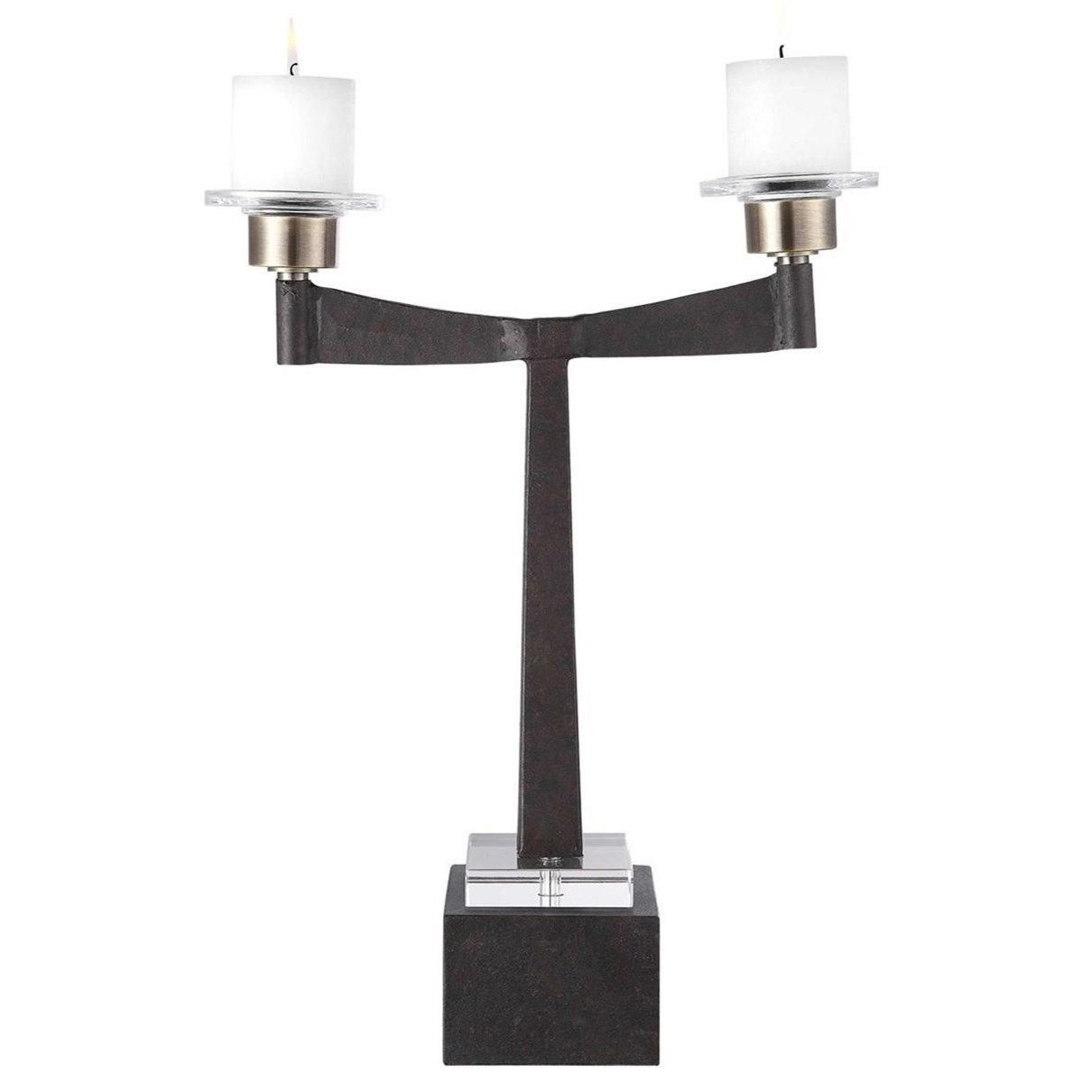 Accessories - Candle Holders Elizer Aged Black Candleholder at Becker Furniture