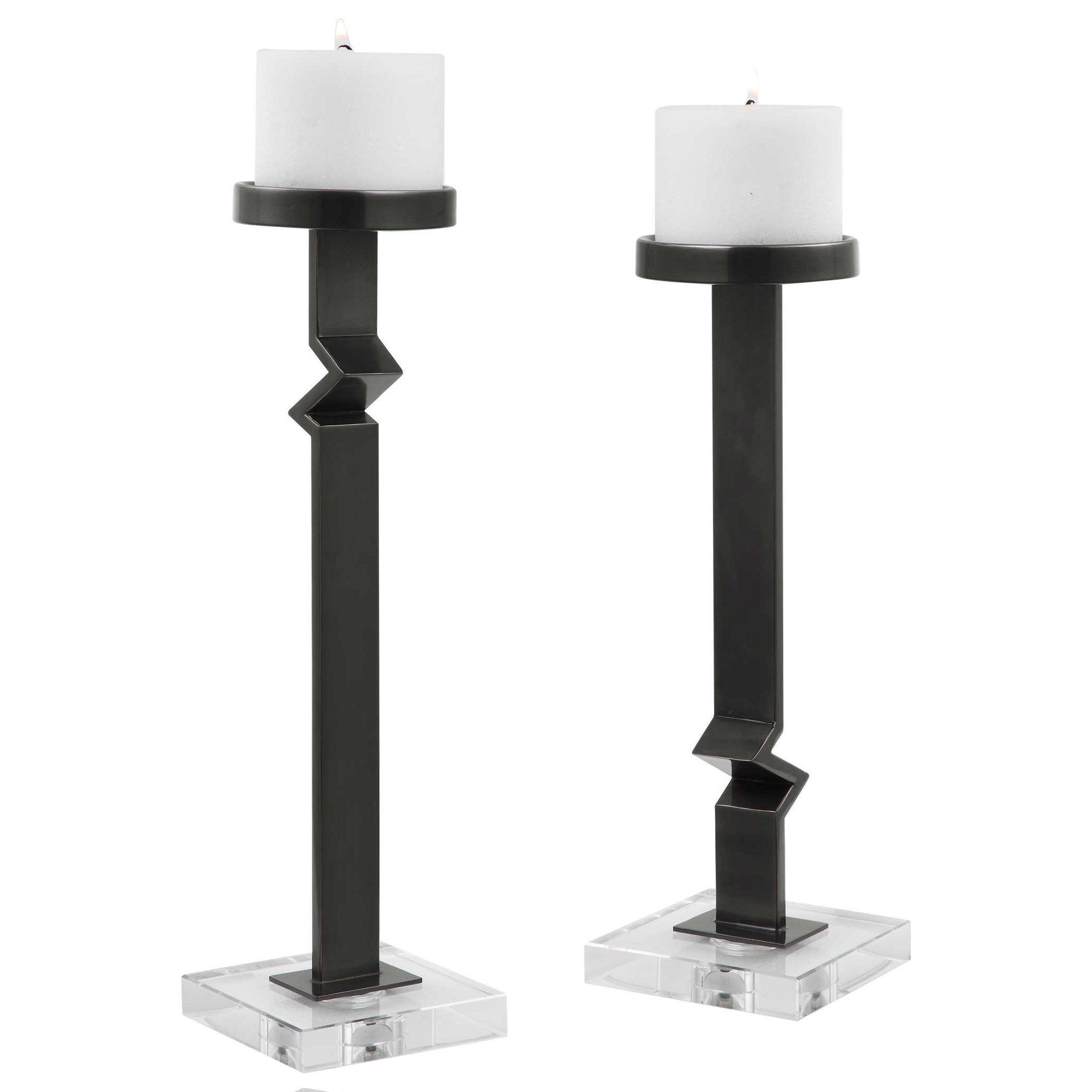 Accessories - Candle Holders Daelan Contemporary Candleholders, S/2 by Uttermost at Furniture and ApplianceMart