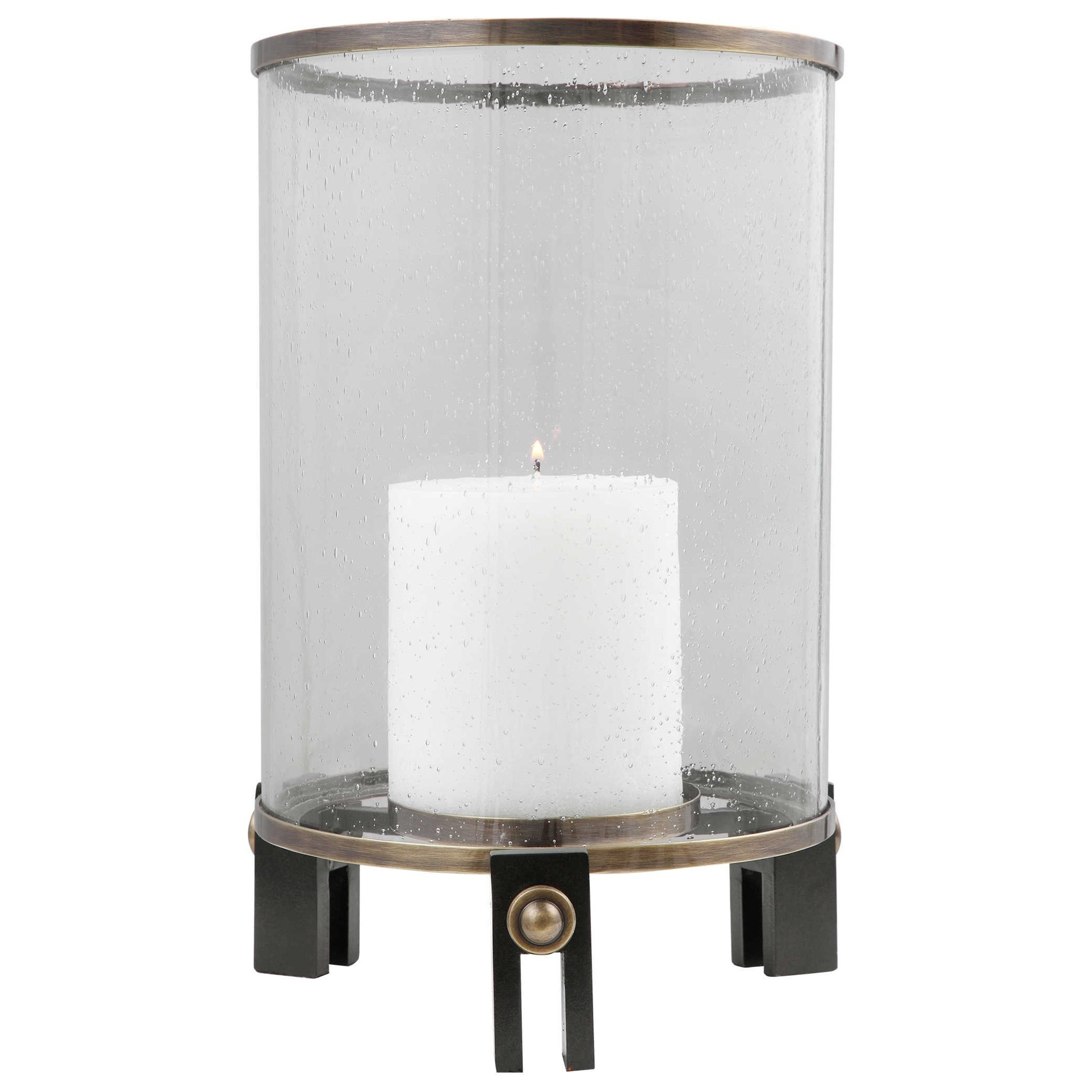 Accessories - Candle Holders Faraday Hurricane Candleholder by Uttermost at Suburban Furniture