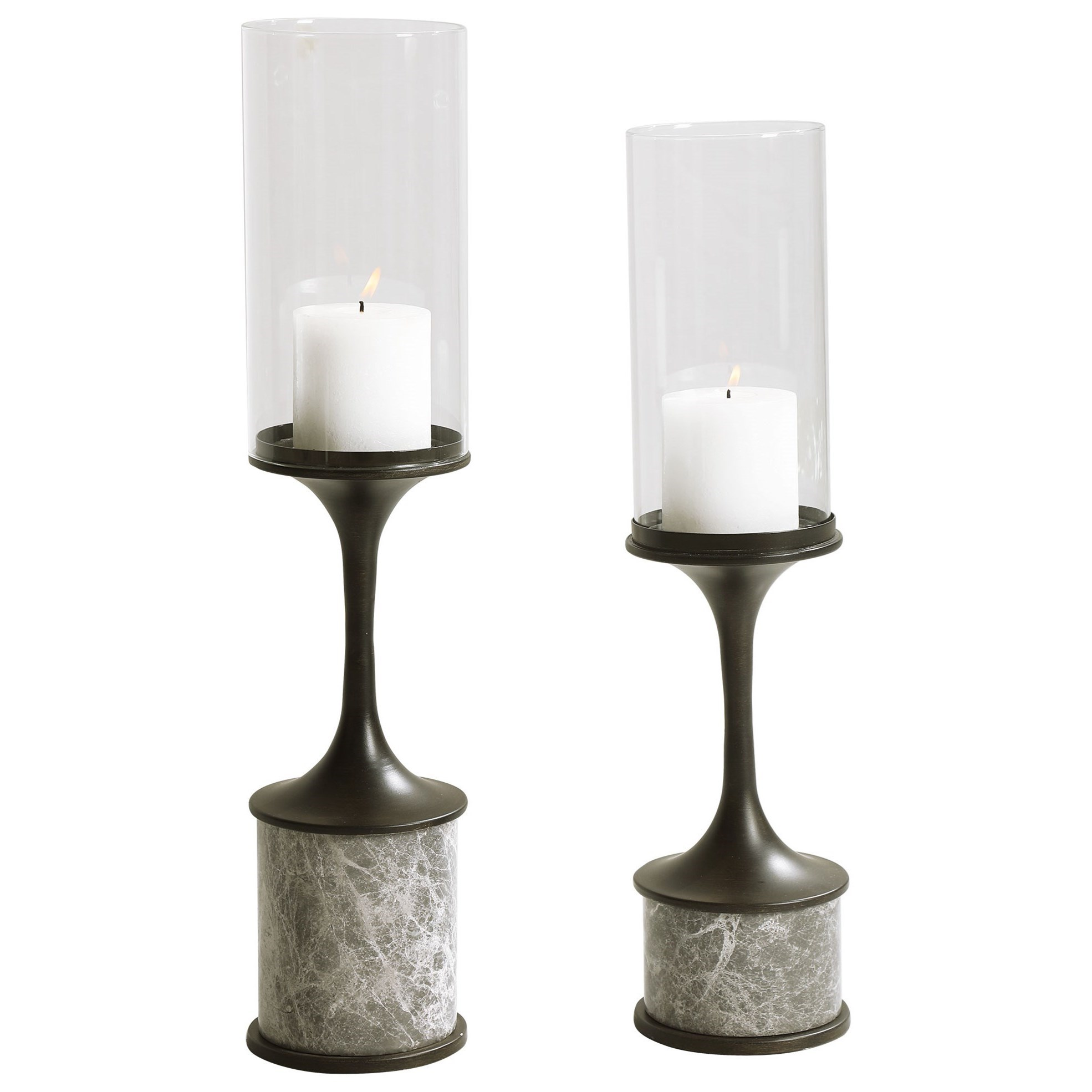 Accessories - Candle Holders Deane Marble Candleholders, S/2 by Uttermost at Furniture and ApplianceMart