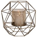 Uttermost Accessories - Candle Holders Myah Geometric Gold Candleholder - Item Number: 18952