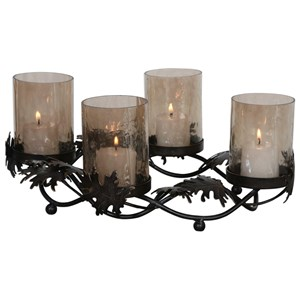 Elora Cast Leaves Candelabra