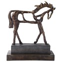 Uttermost Accessories - Statues and Figurines Titan Horse Sculpture - Item Number: 17514