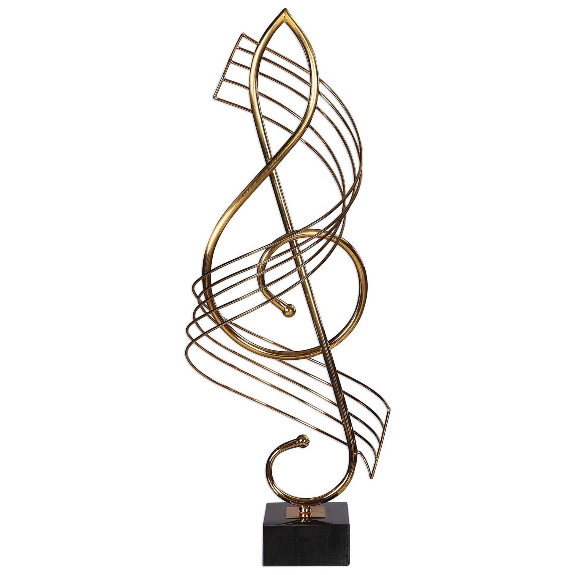 Accessories - Statues and Figurines Score Brass Musical Sculpture by Uttermost at Mueller Furniture