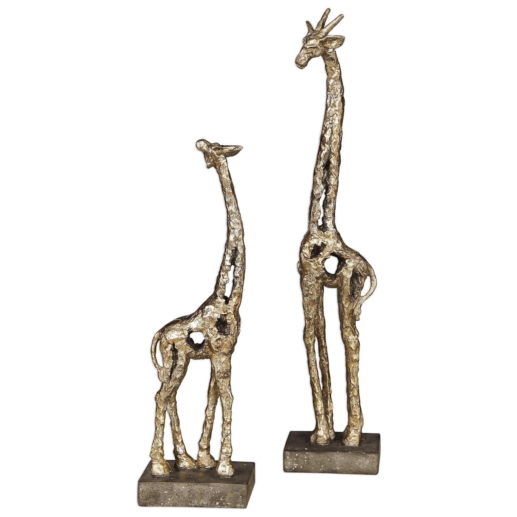 Accessories - Statues and Figurines Masai Giraffe Figurines, S/2 at Becker Furniture
