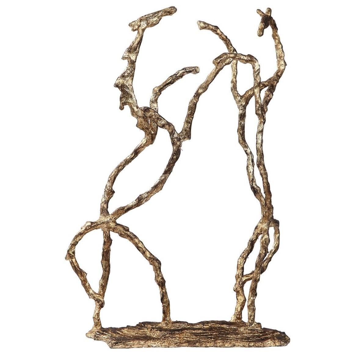 Accessories - Statues and Figurines Equine Gold Sculpture by Uttermost at Mueller Furniture