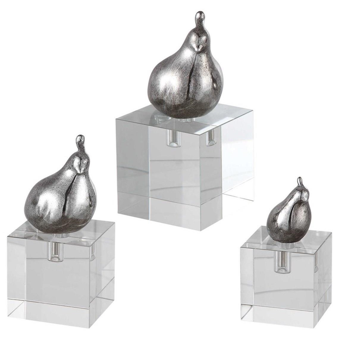 Aira Bird Figurines, Set/3