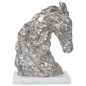 Foal Antique Silver Sculpture