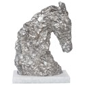 Uttermost Accessories - Statues and Figurines Foal Antique Silver Sculpture - Item Number: 17738