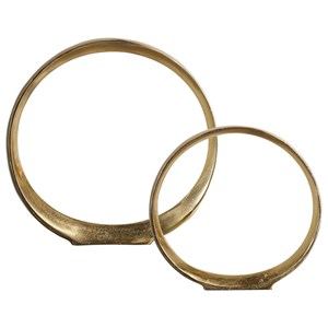 Jimena Gold Ring Sculptures Set/2