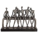 Uttermost Accessories - Statues and Figurines Camaraderie Aged Silver Figurine - Item Number: 18991