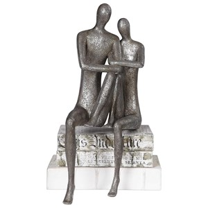 Courtship Antique Nickel Figurine