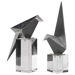Origami Bird Figurines Set/2