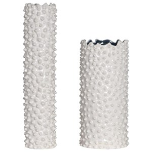Ciji White Vases, Set/2