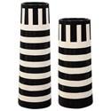 Uttermost Accessories - Vases and Urns Black & White Vases, S/2 - Item Number: 17866