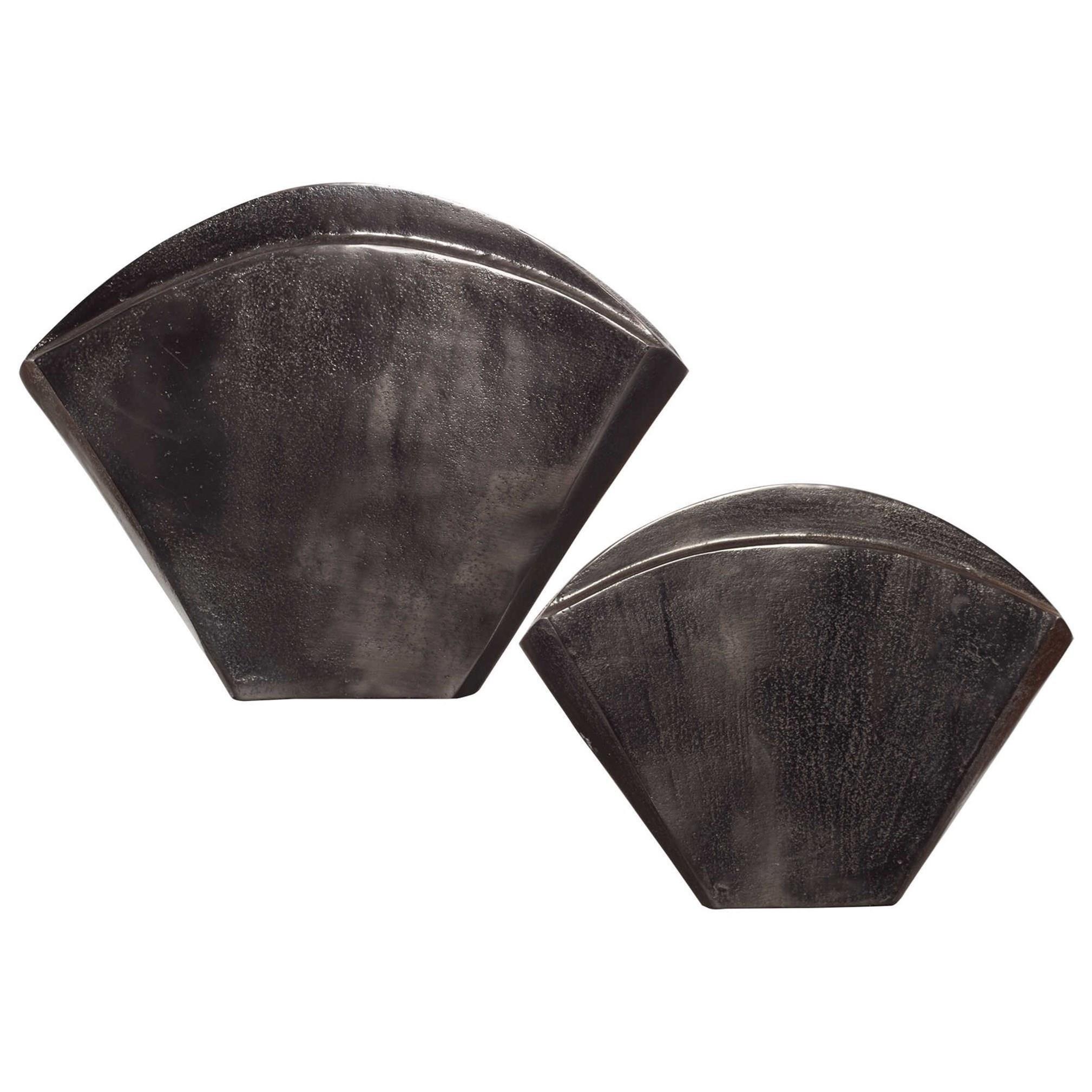 Accessories - Vases and Urns Filip Dark Nickel Vases Set/2 by Uttermost at Mueller Furniture