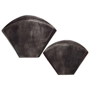 Filip Dark Nickel Vases Set/2