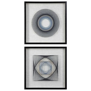String Duet Geometric Art Set of 2