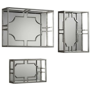 Adoria Silver Wall Shelves Set of 3