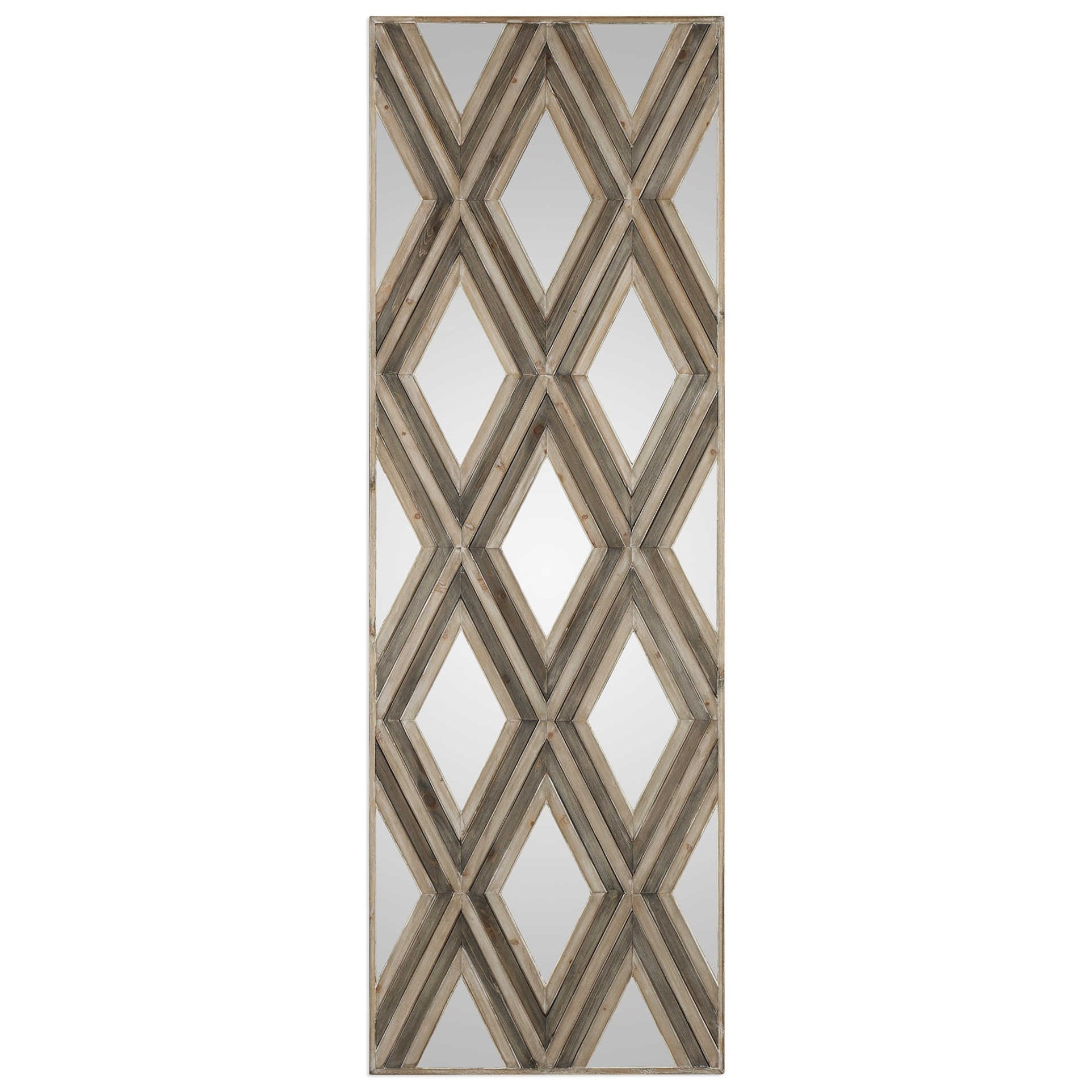 Tahira Geometric Argyle Pattern Wall Mirror