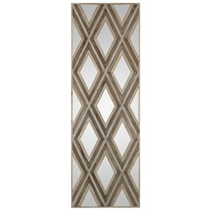 Uttermost Art Tahira Geometric Argyle Pattern Wall Mirror