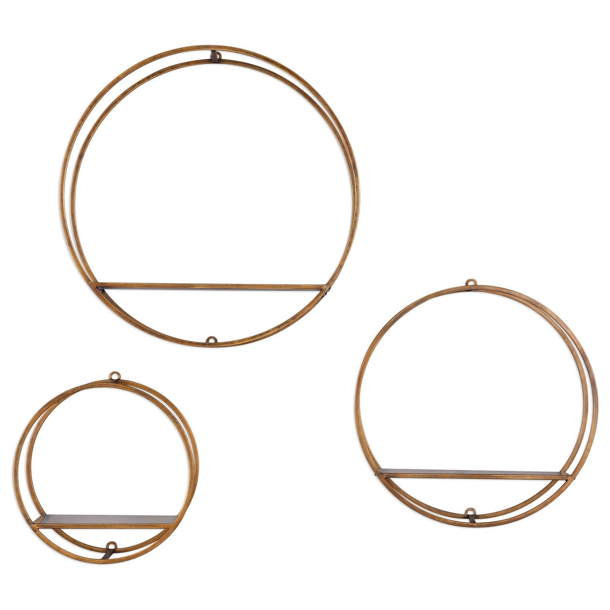 Ellison Drum Cage Shelves Set of 3