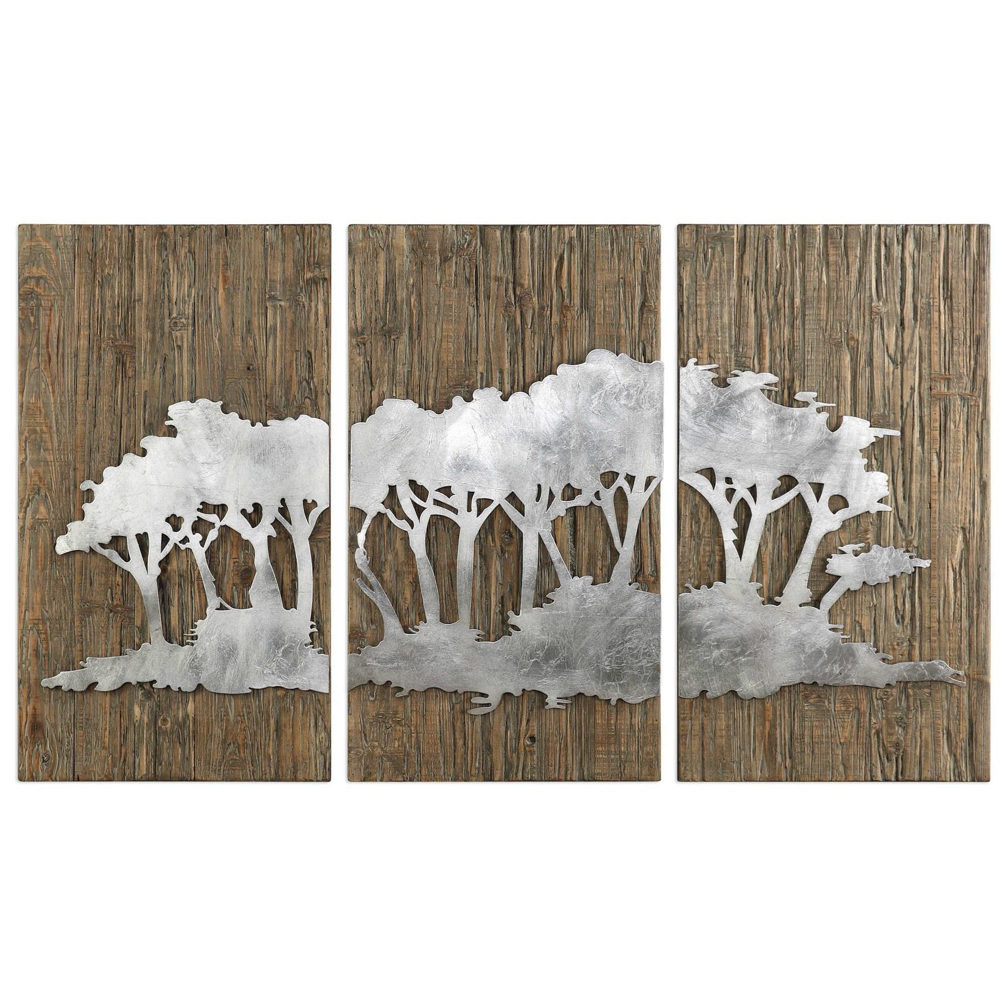 Safari Views Silver Wall Art Set of 3