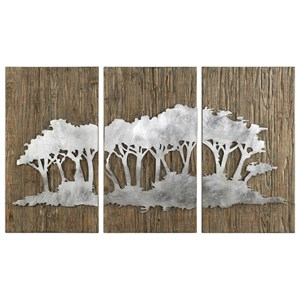 Safari Views Silver Wall Art Set of 3