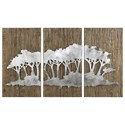 Uttermost Alternative Wall Decor Safari Views Silver Wall Art Set of 3 - Item Number: 04121
