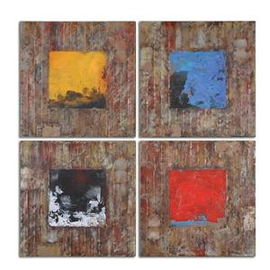 Uttermost Art Primary Blocks Wall Art Set of 4