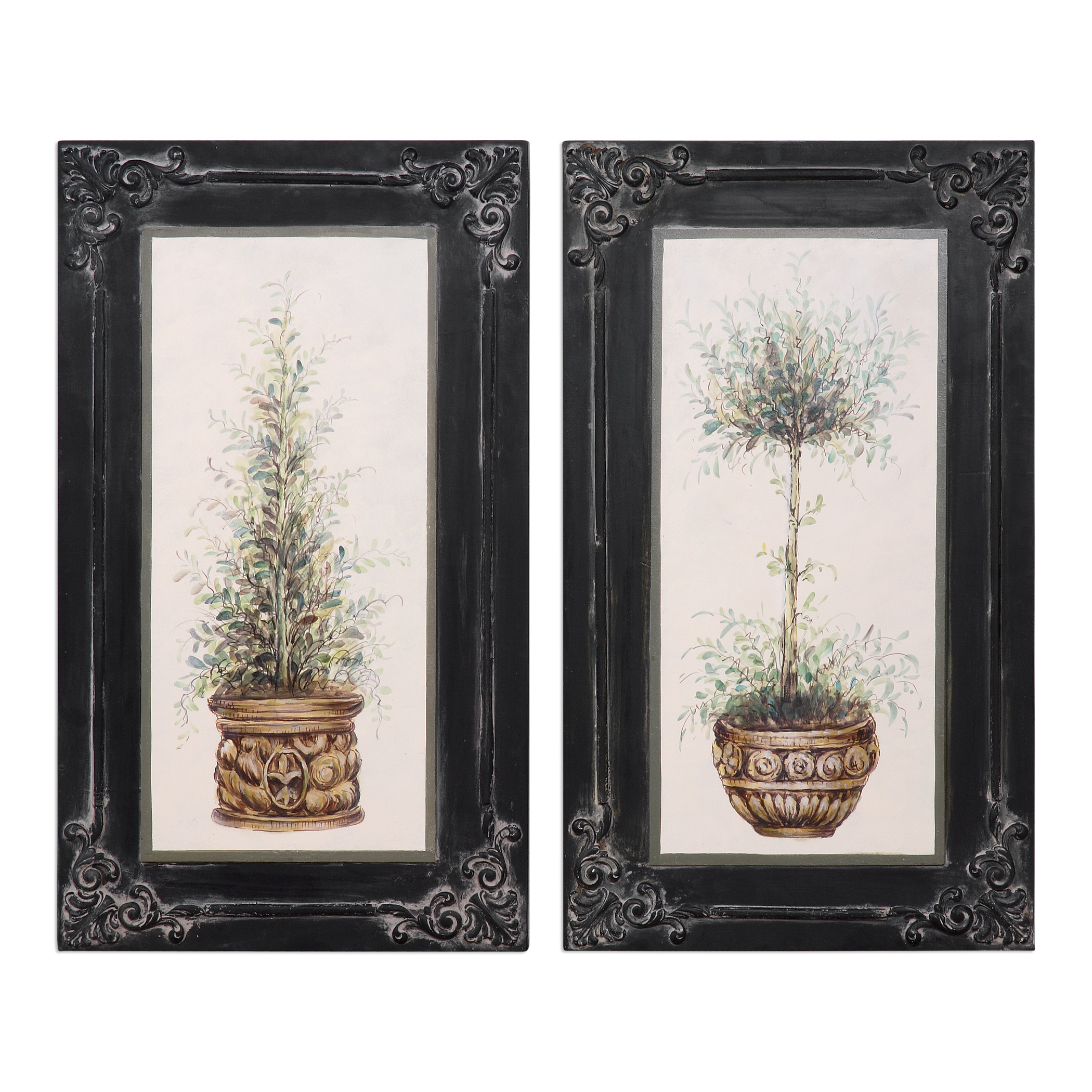 Uttermost Art Topiaries Hand Painted Art, S/2 - Item Number: 31404
