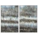 Uttermost Art Gray Reflections Landscape Art Set of 2 - Item Number: 31411