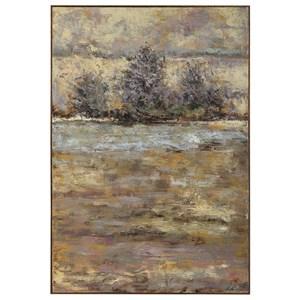 Lavender Trees Landscape Art
