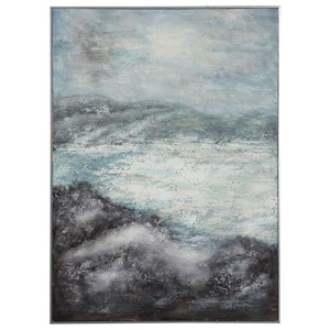 Azure Altitudes Hand Painted Canvas