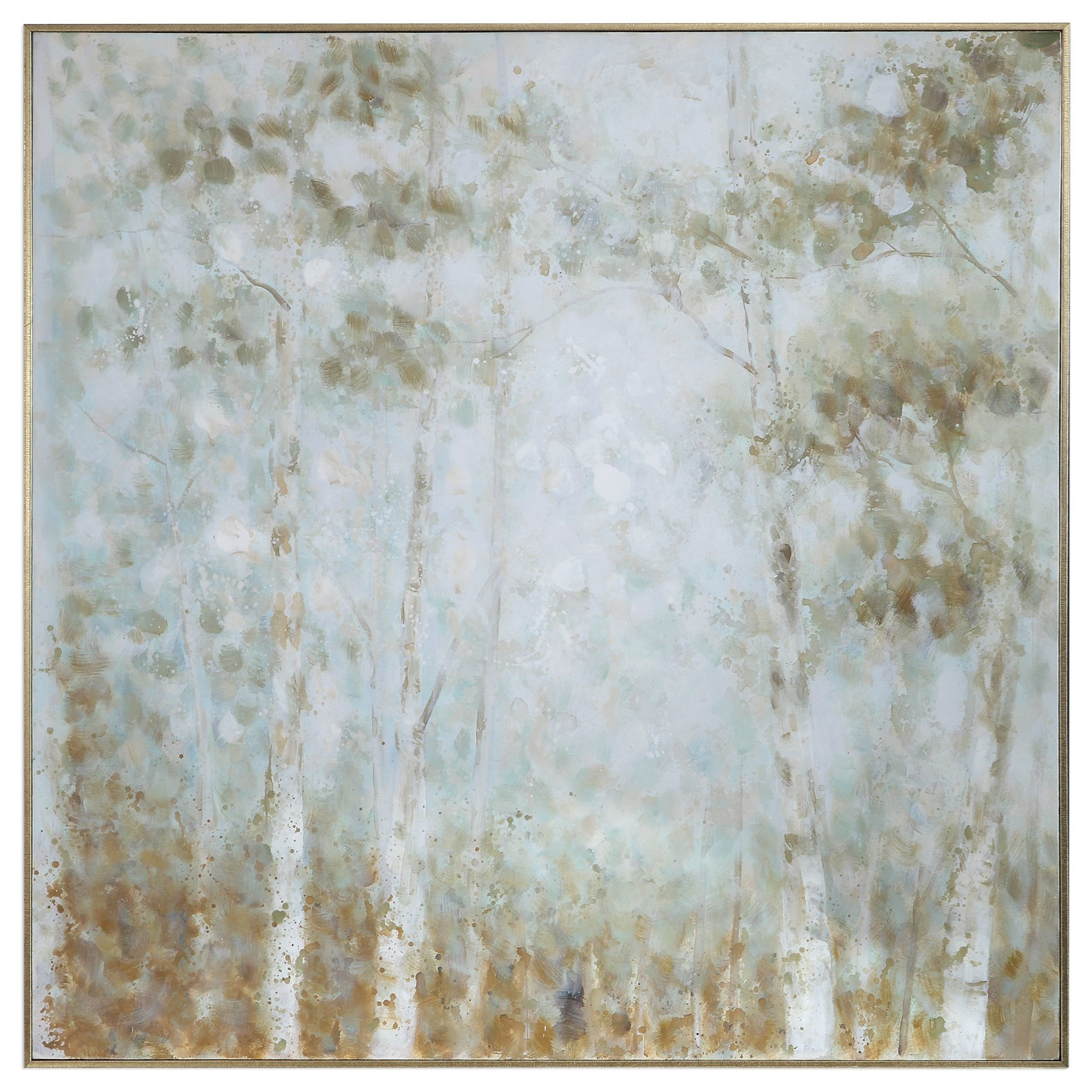 Art Cotton Woods Hand Painted Canvas by Uttermost at Mueller Furniture