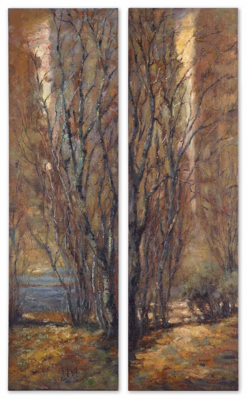 Uttermost Art Tree Panels Set of 2 - Item Number: 32147