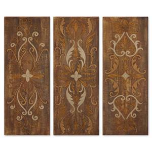 Uttermost Art Elegant Swirl Panels Set of 3