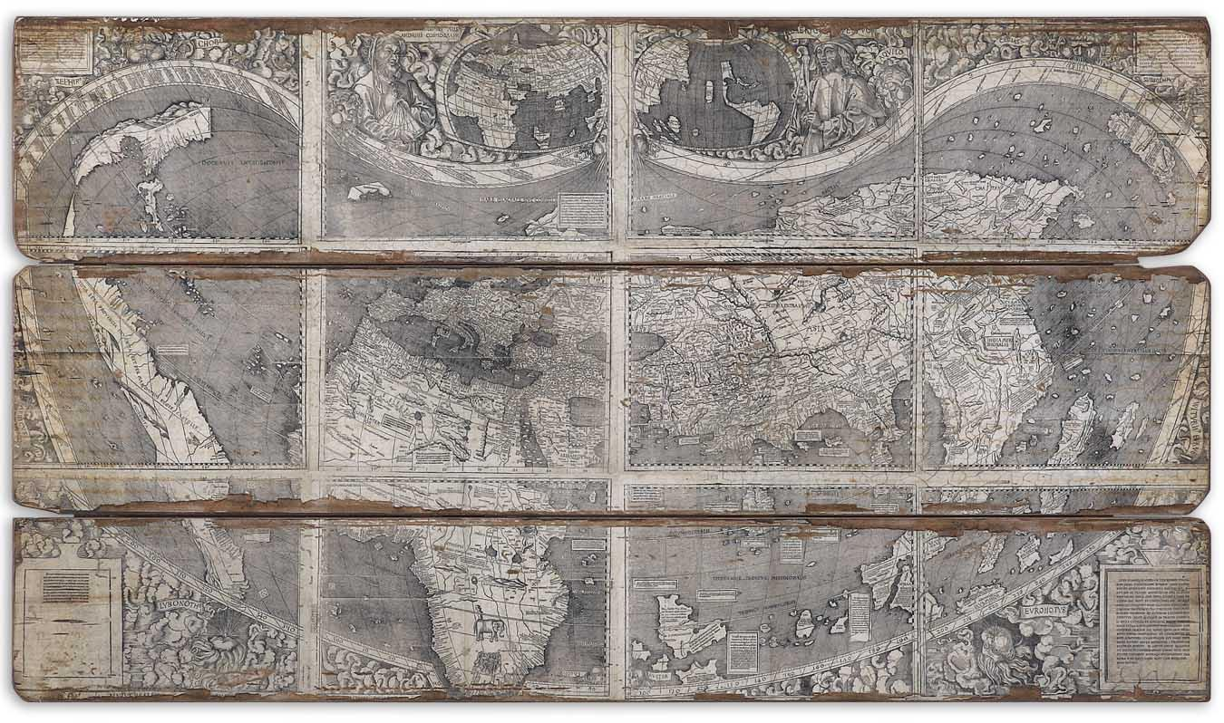Uttermost Art Map Of The City - Item Number: 32524
