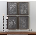 Uttermost Art Root Study (Set of 4)