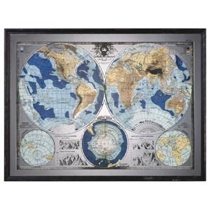 Uttermost Art Mirrored World Map