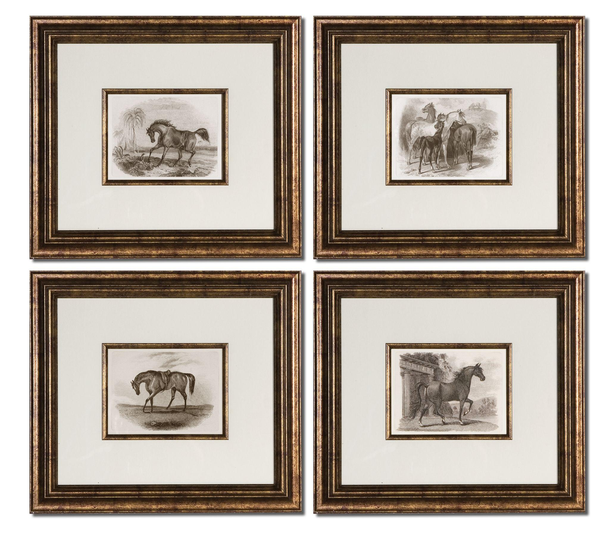 Uttermost Art Horses Set of 4 - Item Number: 33590