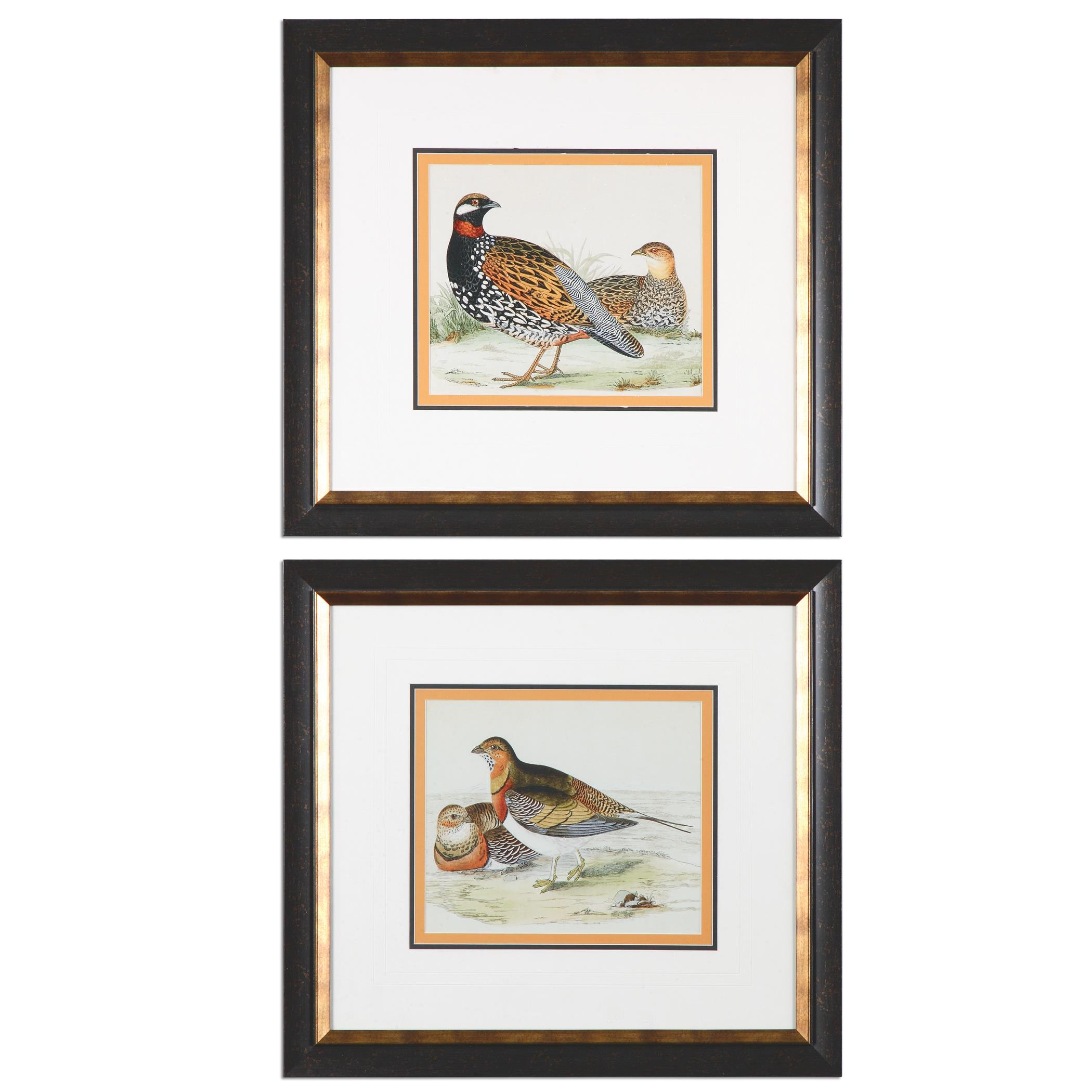 Uttermost Art Pair Of Quail Framed Prints, S/2 - Item Number: 33612