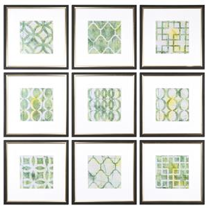 Uttermost Art Metric Links Geometric Art, S/9