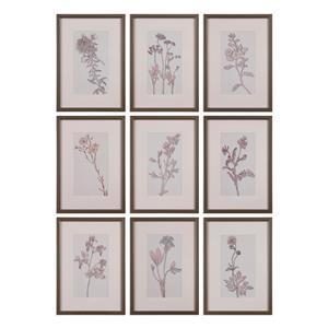 Uttermost Art Spring Delights Floral Art, S/9