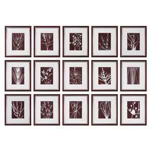 Uttermost Art Abstract Marsala Floral Prints, S/15