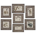 Uttermost Art Snakes Under Glass (Set of 7) - Item Number: 33637