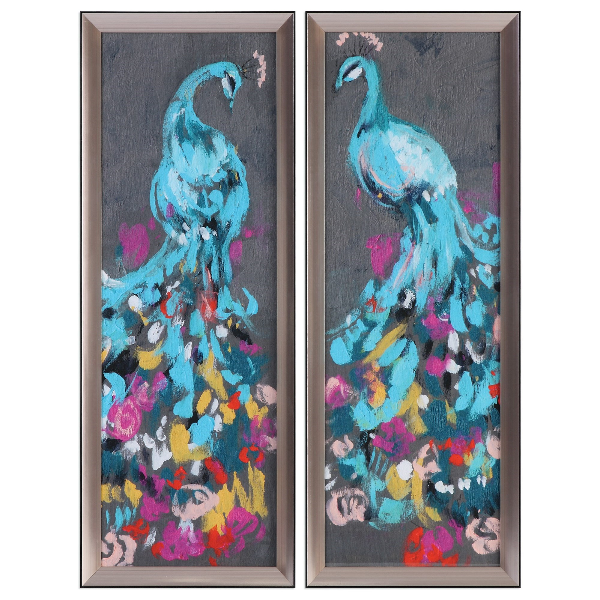 Uttermost Art Flower Feathers (Set of 2) - Item Number: 33640