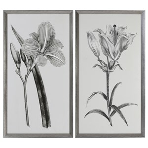Uttermost Art Sepia Flowers (Set of 2)