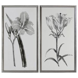 Uttermost Art Sepia Flowers (Set of 2)